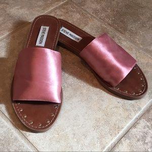 STEVE MADDEN Dusty Pink Slide Sandals 8